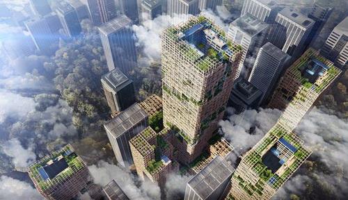 В Токио построят первый в мире 70-этажный деревянный небоскреб