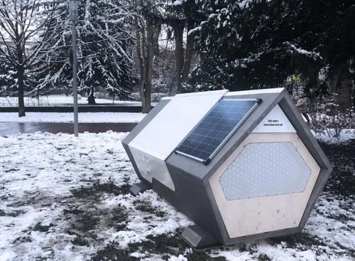 Немецким бездомным подарили футуристические модули для сна