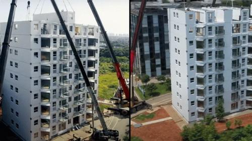 В Поднебесной стали строить 10-этажки за сутки с небольшим